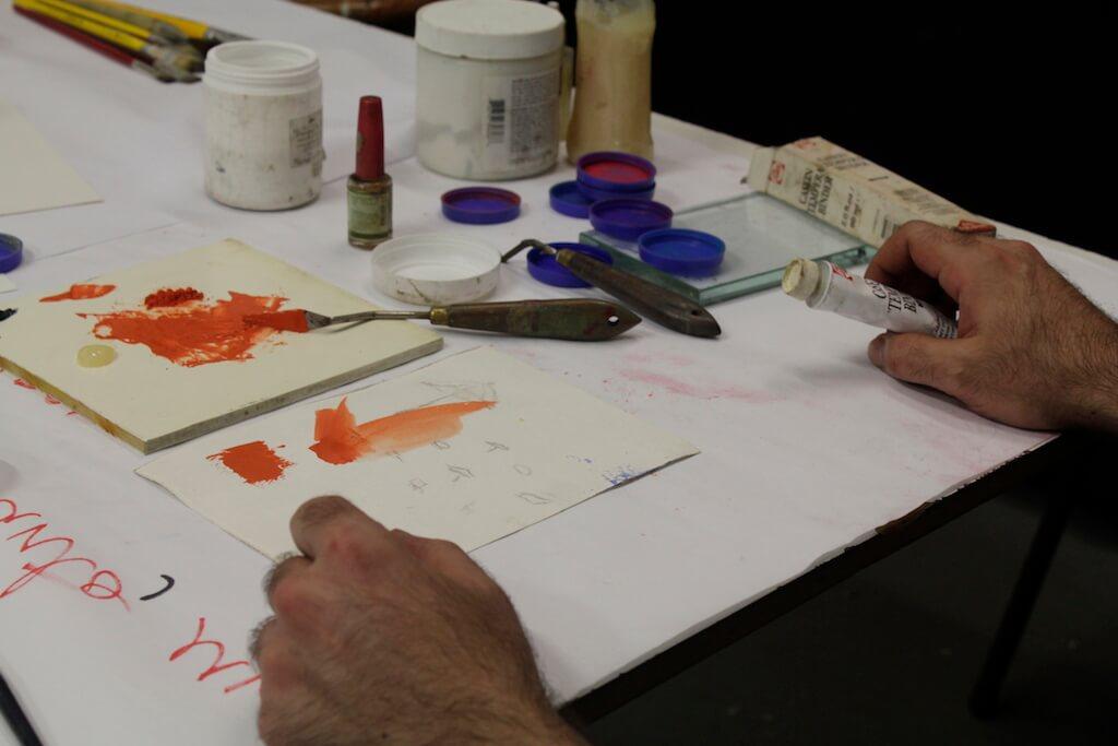 Acompanhamento e desenvolvimento de projetos em pintura, com Eurico Lopes